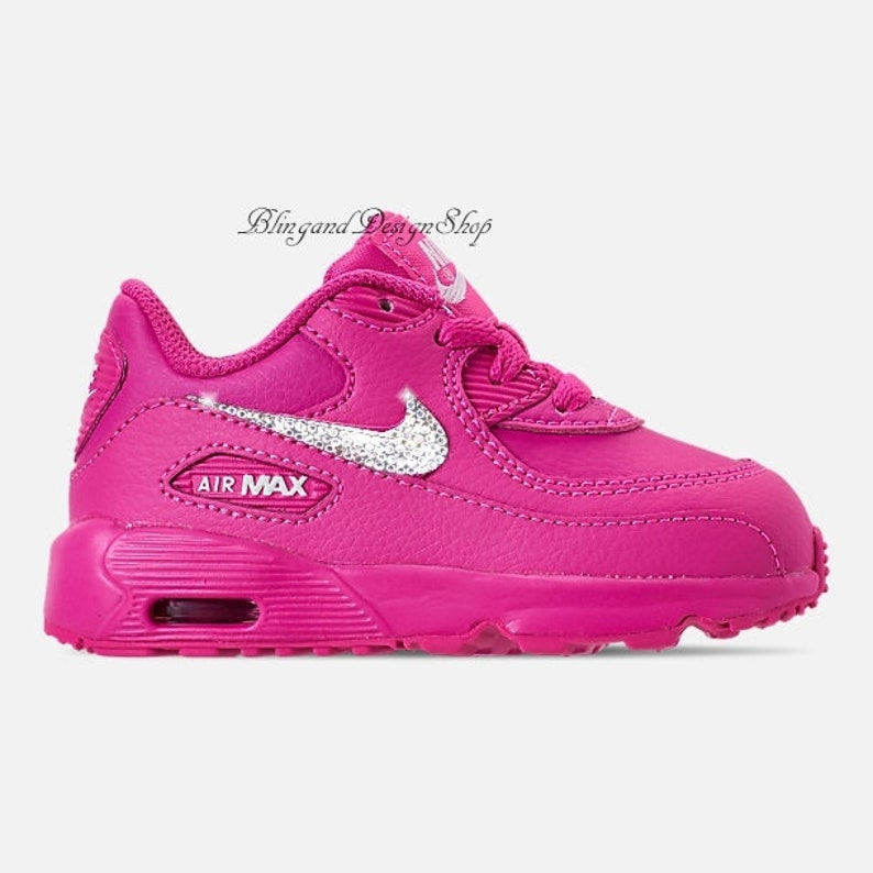 the best attitude 9de38 433f9 Swarovski Baby Nike Air Max 90 Girls Nike Shoes Custom with   Etsy