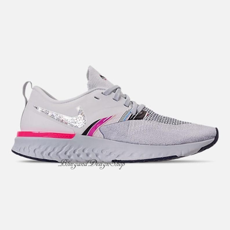 892c353e00c0 Swarovski Bling Nike Odyssey React Flyknit 2 Women s Nike