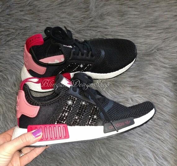62aa9d499fe18 Swarovski Bling Adidas Originals NMD R1 Women's Adidas | Etsy