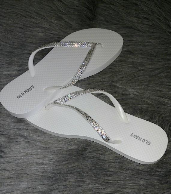 4fde97c34 Swarovski Bling Women s Sandals Flip Flops Custom with
