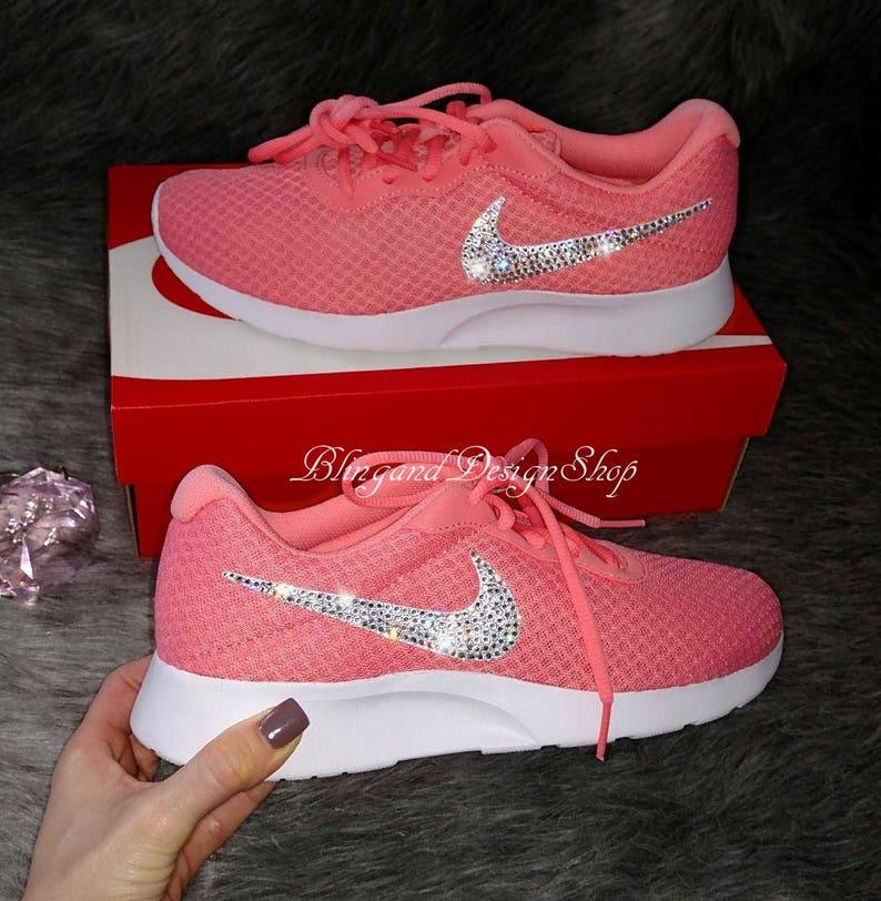 Swarovski Bling Nike Tanjun Women s Nike Shoes Tennis shoe  00eceb6cff
