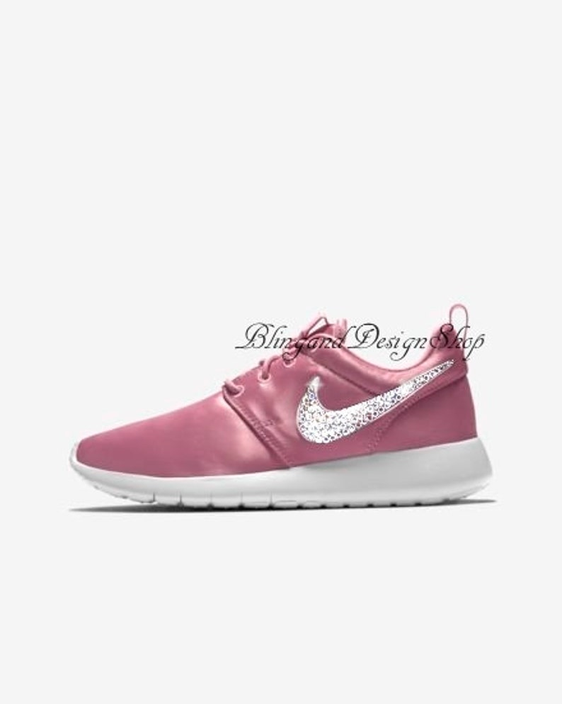 335eea267caf8 Swarovski Bling Nike Roshe One Women's Girls Shoes Customized with Crystal  Rhinestones