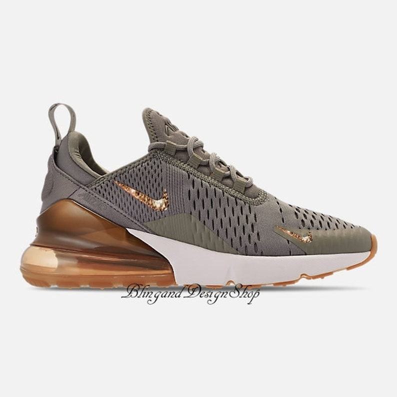 the latest f2473 e93d3 Swarovski Bling Nike Air Max 270 Shoes Custom with Rose Gold   Etsy