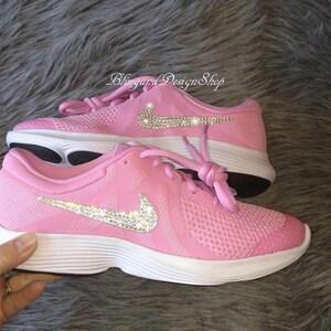 d9ca5e7c47c03 Bling Toddler Swarovski Nike Cortez Basic Shoes Customized with ...