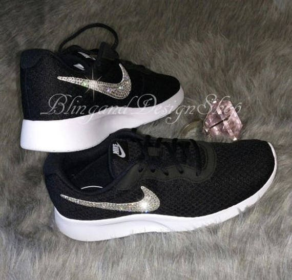 0e85bd74610f Swarovski Nike Tanjun Womens Shoes Custom with Crystal