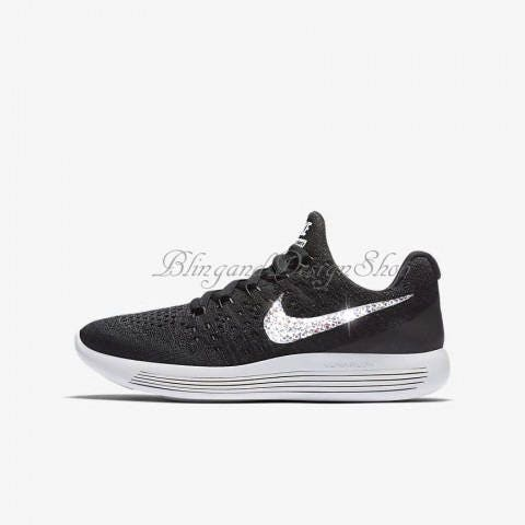 f64b0273f00 Girls Swarovski Nike Shoes LunarEpic Low Flyknit 2 Girls Shoes Custom with  Crystal Rhinestones Bling Nike Shoes