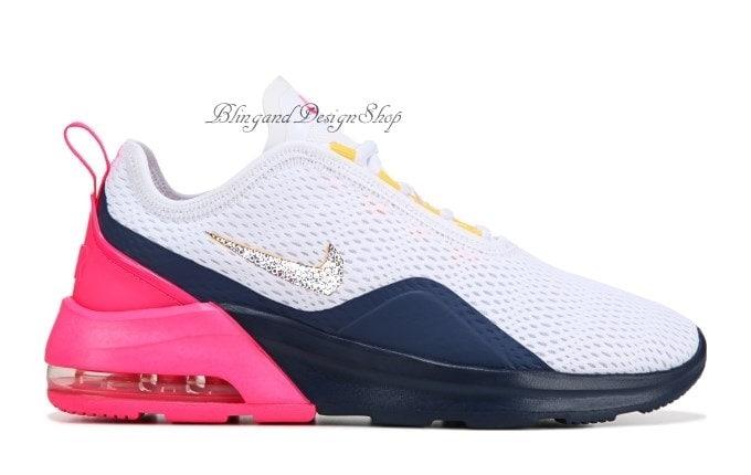 Swarovski Nike Air Max Motion 2 Women s Nike Shoes Custom with Swarovski  Crystals Rhinestones a6a46a9abe
