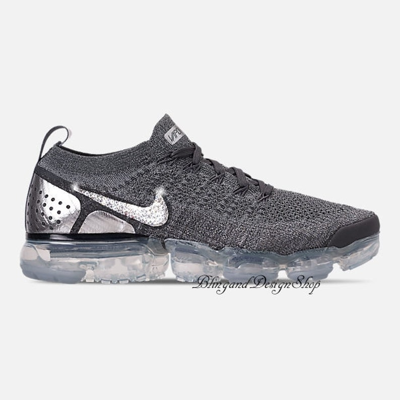 902138e02110 Bling Swarovski Nike Vapormax Flyknit 2 Shoes Customized with