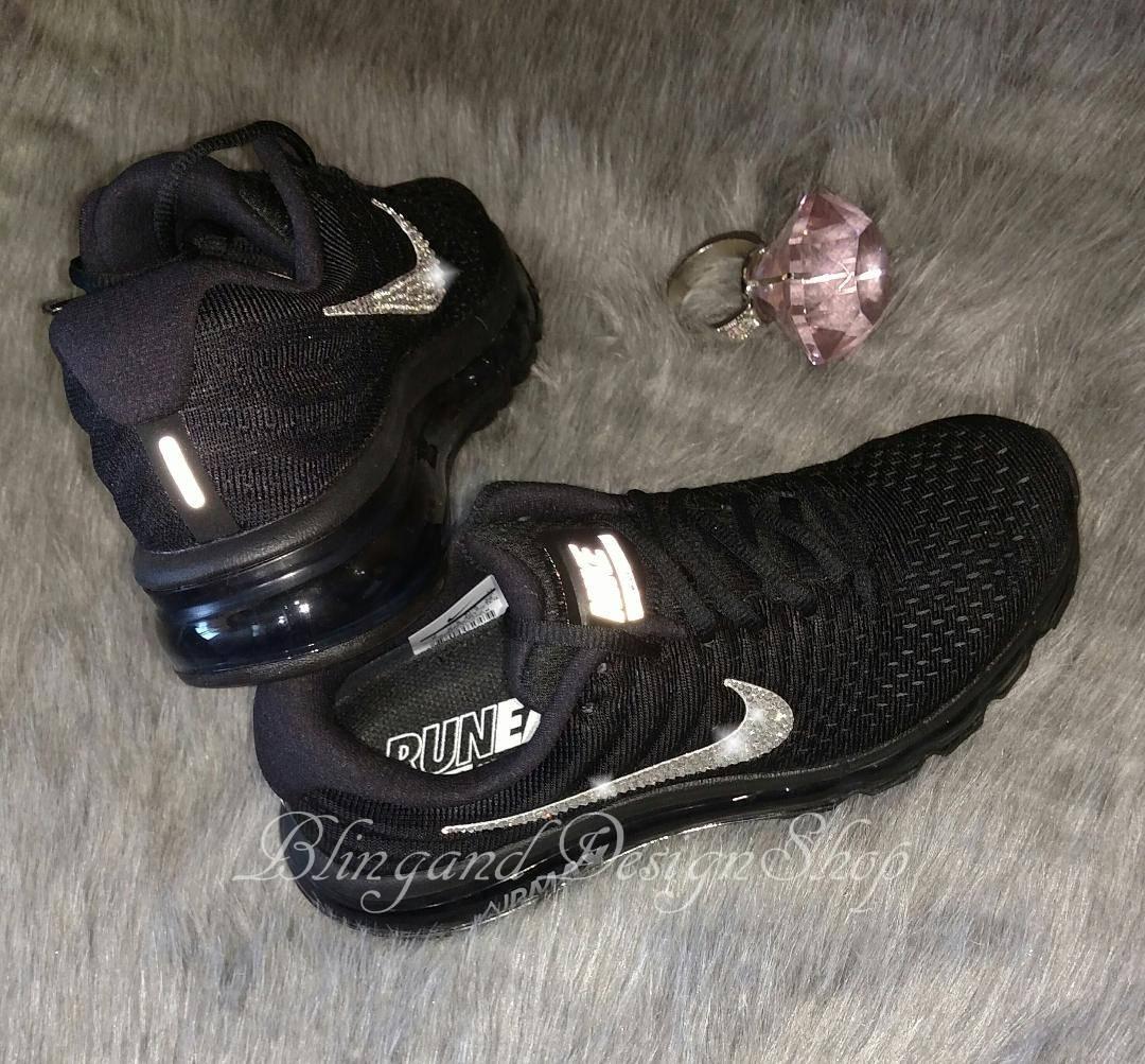 5ee6652aa6706 Swarovski Nike Shoes Air Max 2017 Womens Shoes Custom with