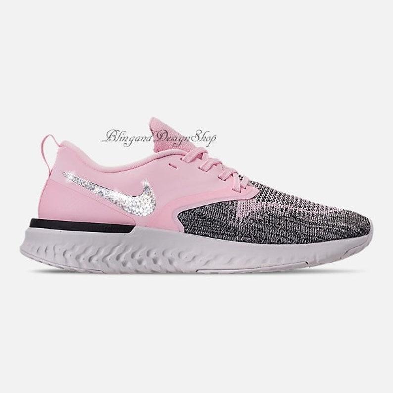 17a29489ab17 Swarovski Bling Nike Odyssey React Flyknit 2 Women s Pink