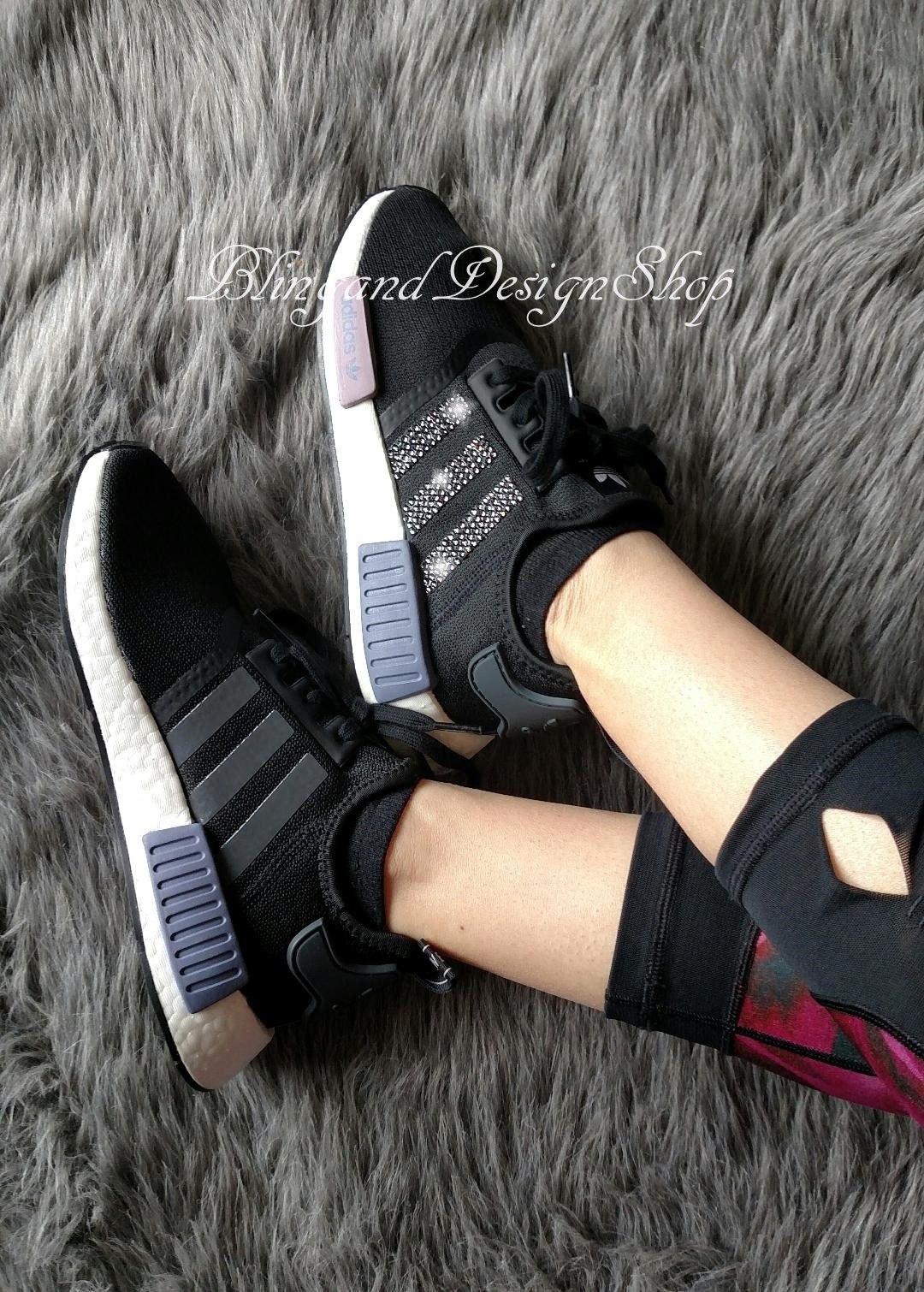 2cc044dd404c3 Swarovski Adidas Shoes Womens NMD Runner Shoes Customized with Crystal  Rhinestones Bling Adidas Shoes