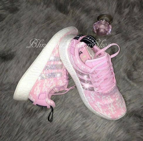 c7a16d66f Swarovski Bling Adidas Shoes Women s Adidas NMD R2 Originals Custom with Swarovski  Crystal Rhinestones
