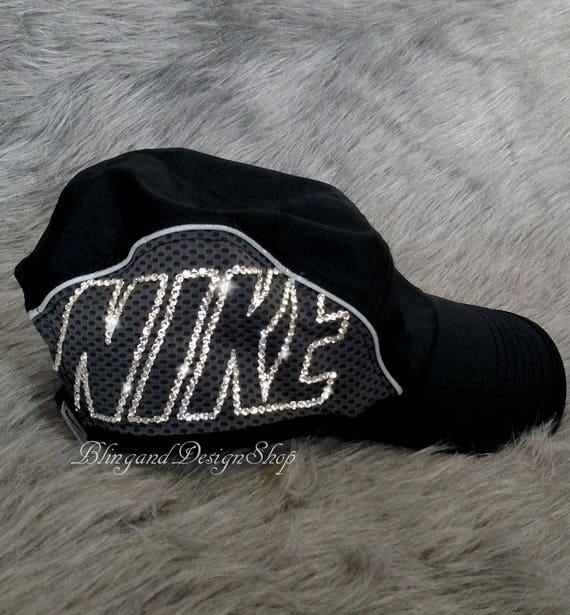 Swarovski Bling Nike Hat Women s Adjustable Nike Aerobill  381577102ae
