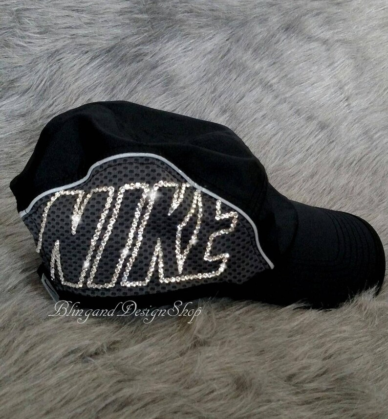Swarovski Bling Nike Hat Women s Adjustable Nike Aerobill  03238c236145