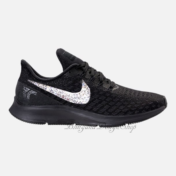 Swarovski Bling Nike Air Zoom Pegasus 35 Women s Nike Shoes Customized with Swarovski  Crystal Rhinestones a913084462f4