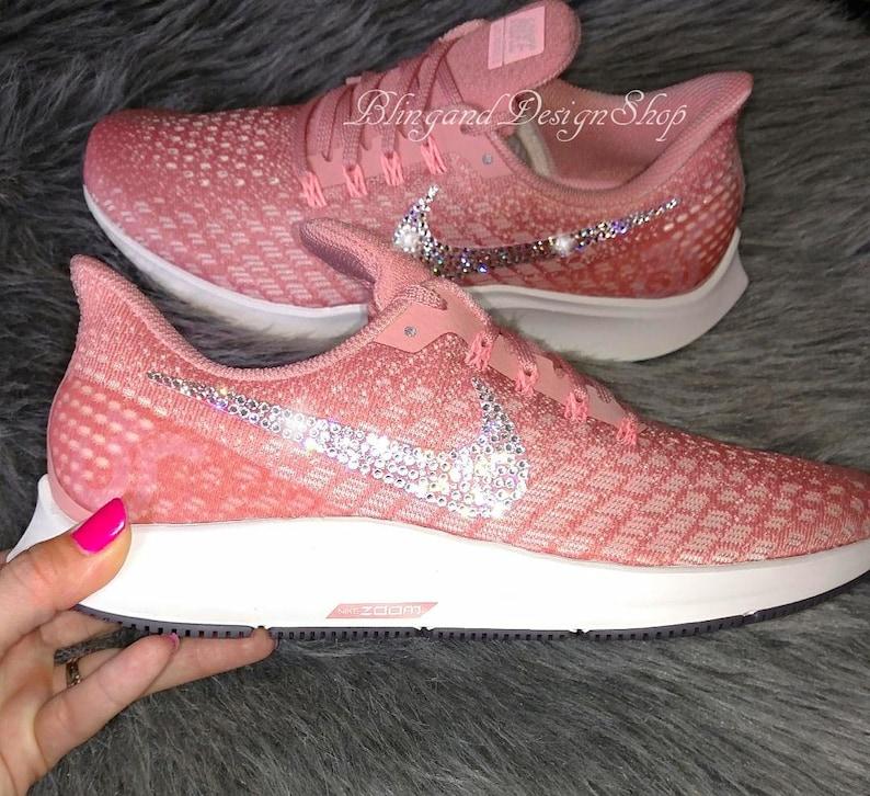1f7185b7b449 Swarovski Bling Nike Women s Air Zoom Pegasus 35 Shoes