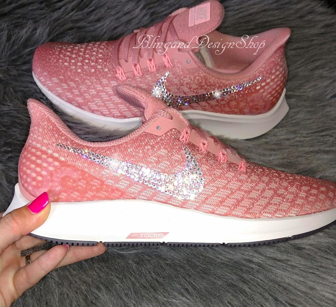 various colors e980a 6b49c Swarovski Bling Nike Women s Air Zoom Pegasus 35 Shoes with Crystal  Rhinestones Custom Running Tennis Shoes Authentic New in Box, Nike Shoes