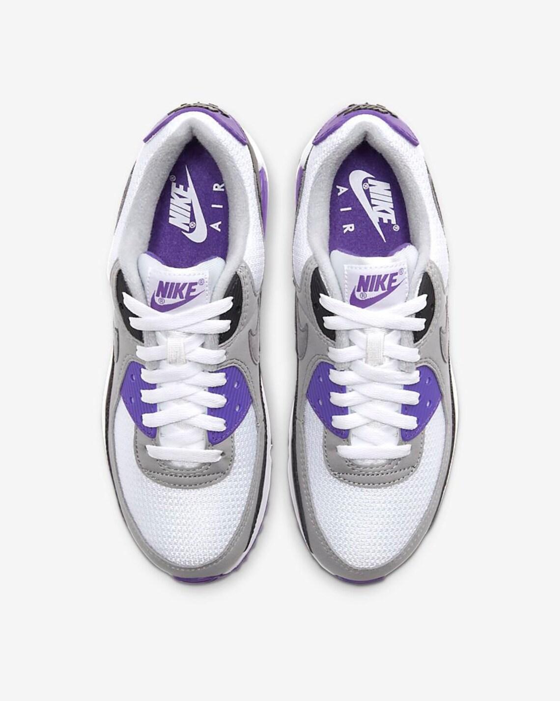 Swarovski Womens Nike Air Max 90 Purple Sneakers Customized