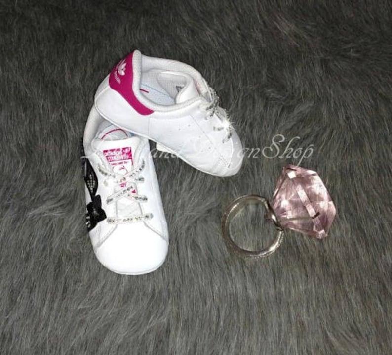 Swarovski Adidas Shoes Stan Smith Floral Baby Shoes Customized  cb50ef6abf