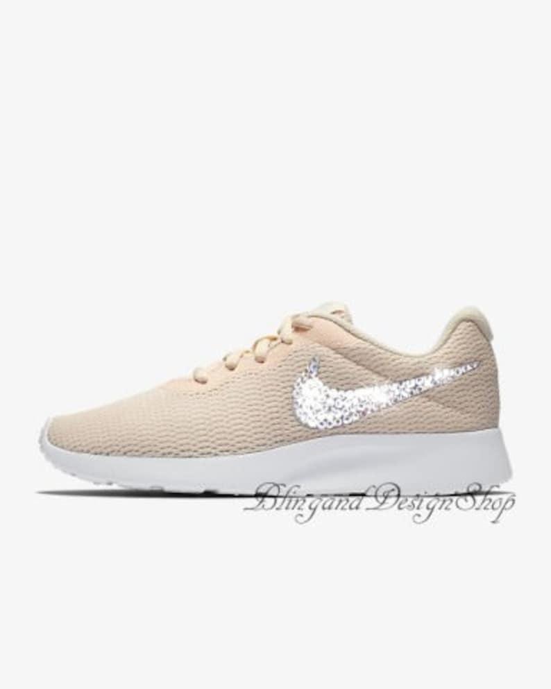 5fd82052c Swarovski Nike Shoes Tanjun Womens Shoes Customized with