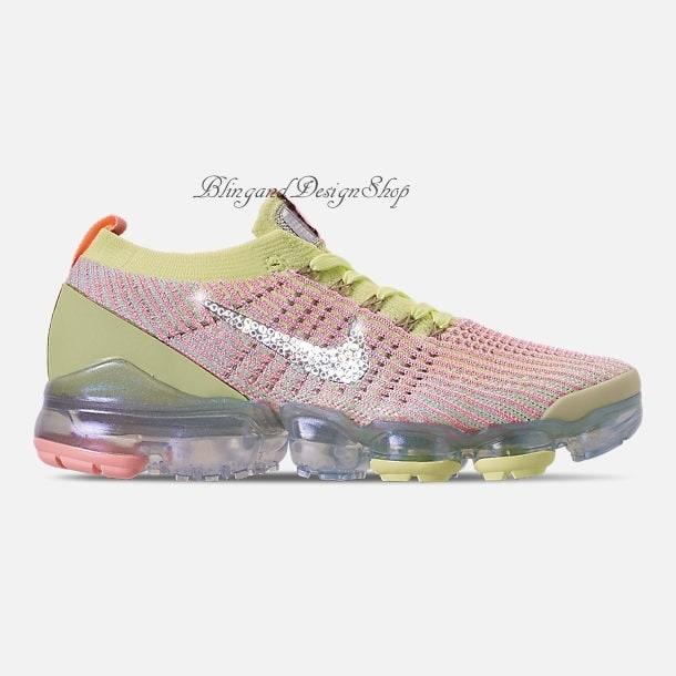 cc47390a7b0a Swarovski Nike Shoes Vapormax Flyknit 3 Women s Shoes Customized with Crystal  Swarovski Rhinestones Bling Nike Shoes