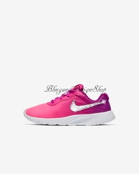 48da9d5da23 Swarovski Nike Girls Shoes Tanjun Customized with Swarovski
