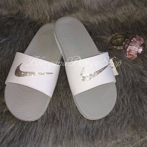 0be5a16f32adfe Bling Swarovski Nike Sandals Kawa Womens Slides Sandals Custom With Crystal  Rhinestones Bling Nike Shoes