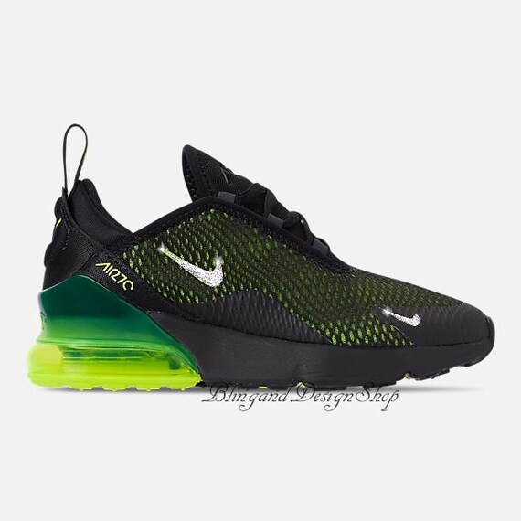 buy online cb411 9a517 Swarovski Nike Girls Air Max 270 Customized with Swarovski Crystals Bling  Nike Shoes