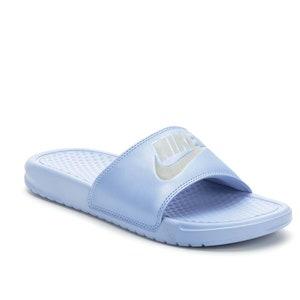 21ae549631f6c Swarovski Bling Nike Womens Benassi Nike Sandals Customized with ...