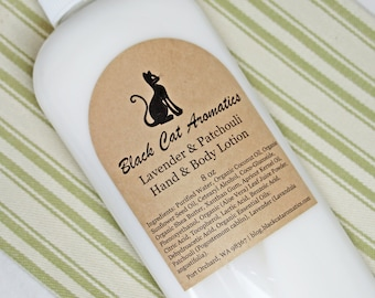 Patchouli & Lavender Hand and Body Lotion, Moisturizing Lotion, Hand Moisturizer, Body Moisturizer 8 oz Pump