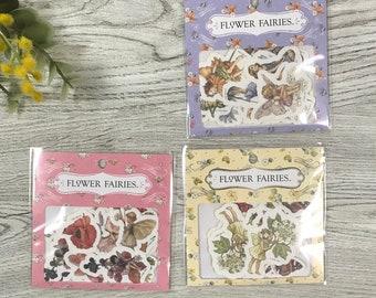 Flower Fairies flake stickers 30pieces