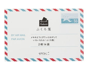 Midori paper bag S air mail design A 34469-006