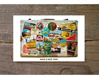 MIDORI Traveler's factory Post card,message card have a nice trip