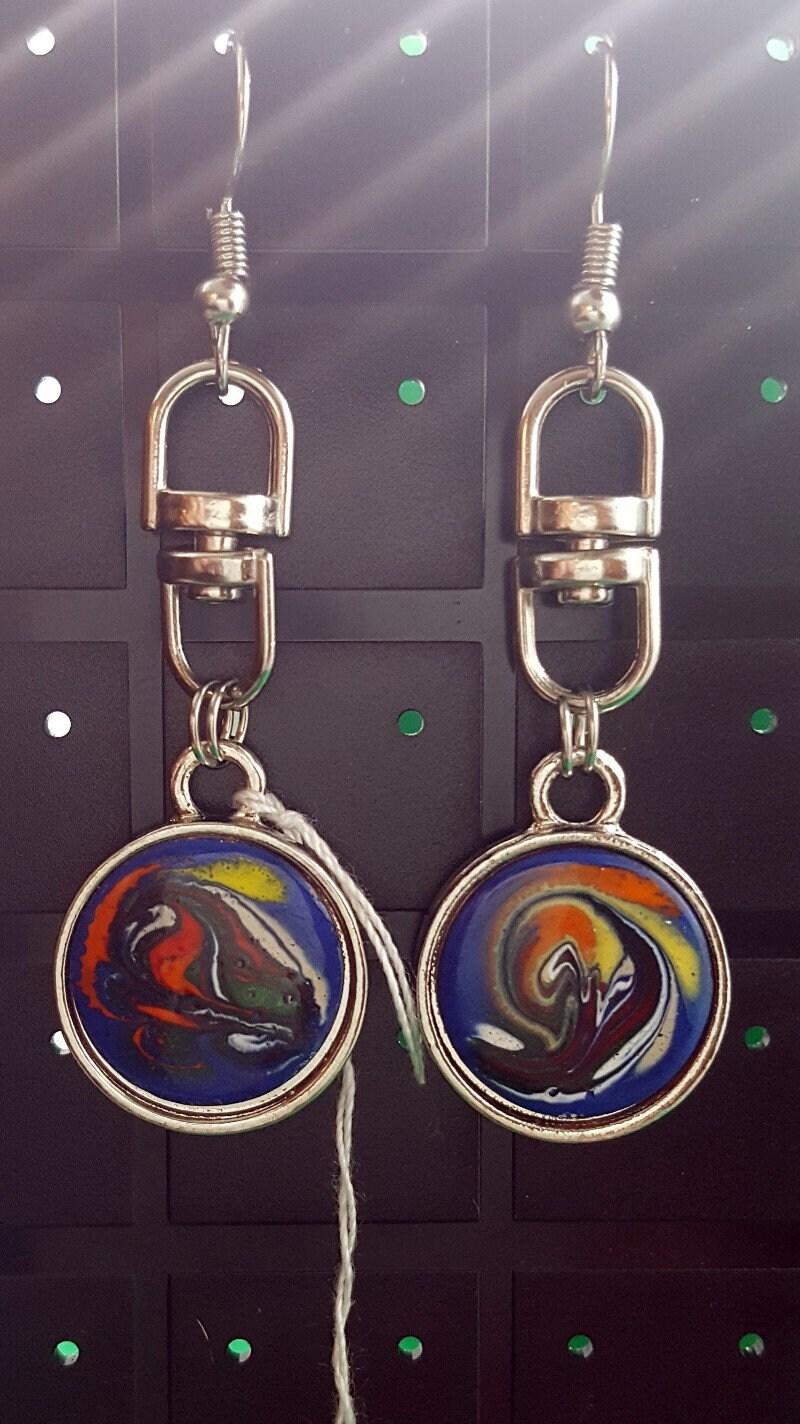 Earrings-Swivel-Double-Sided-Silver