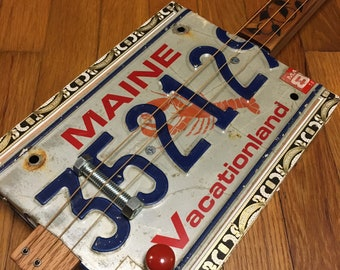 License Plate Guitar - Acoustic/Electric - 3-String