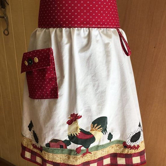 Rooster of Awesomeness Chicken Apron with Pockets