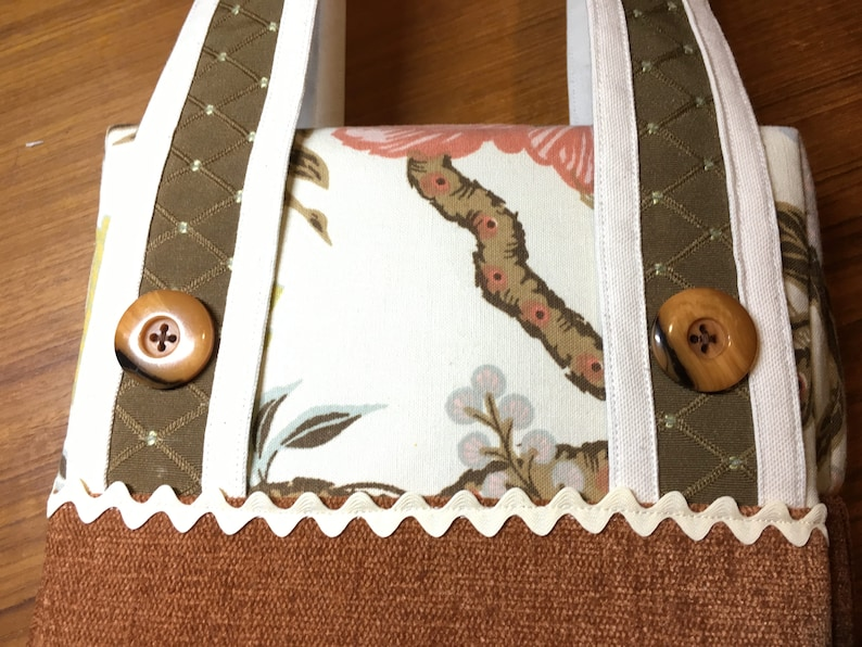 Lovely Handmade Purse  Tote Autumn Floral Colors