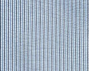 Surf Stripe Seersucker Fabric by Robert Kaufman