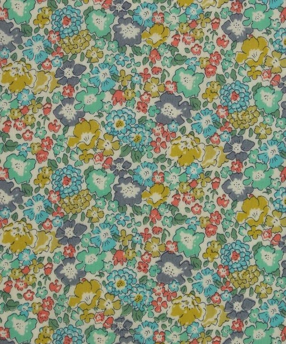 Floral Tana Lawn Cotton Michelle D Green Liberty of London Fabric