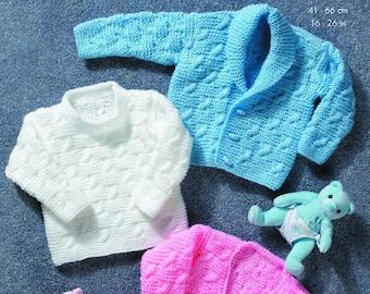615cba7ae King Cole comfort Aran knitting pattern no 3136 baby coat