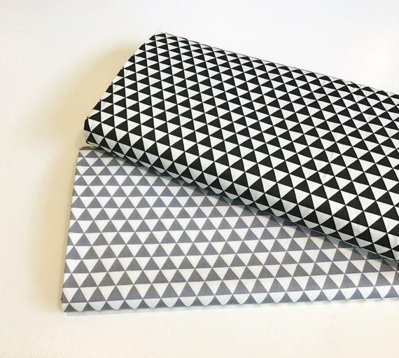 BLUE Meter//Fat Quarter//FQ Cotton Fabric FQ Geometric Triangle Sewing Craft