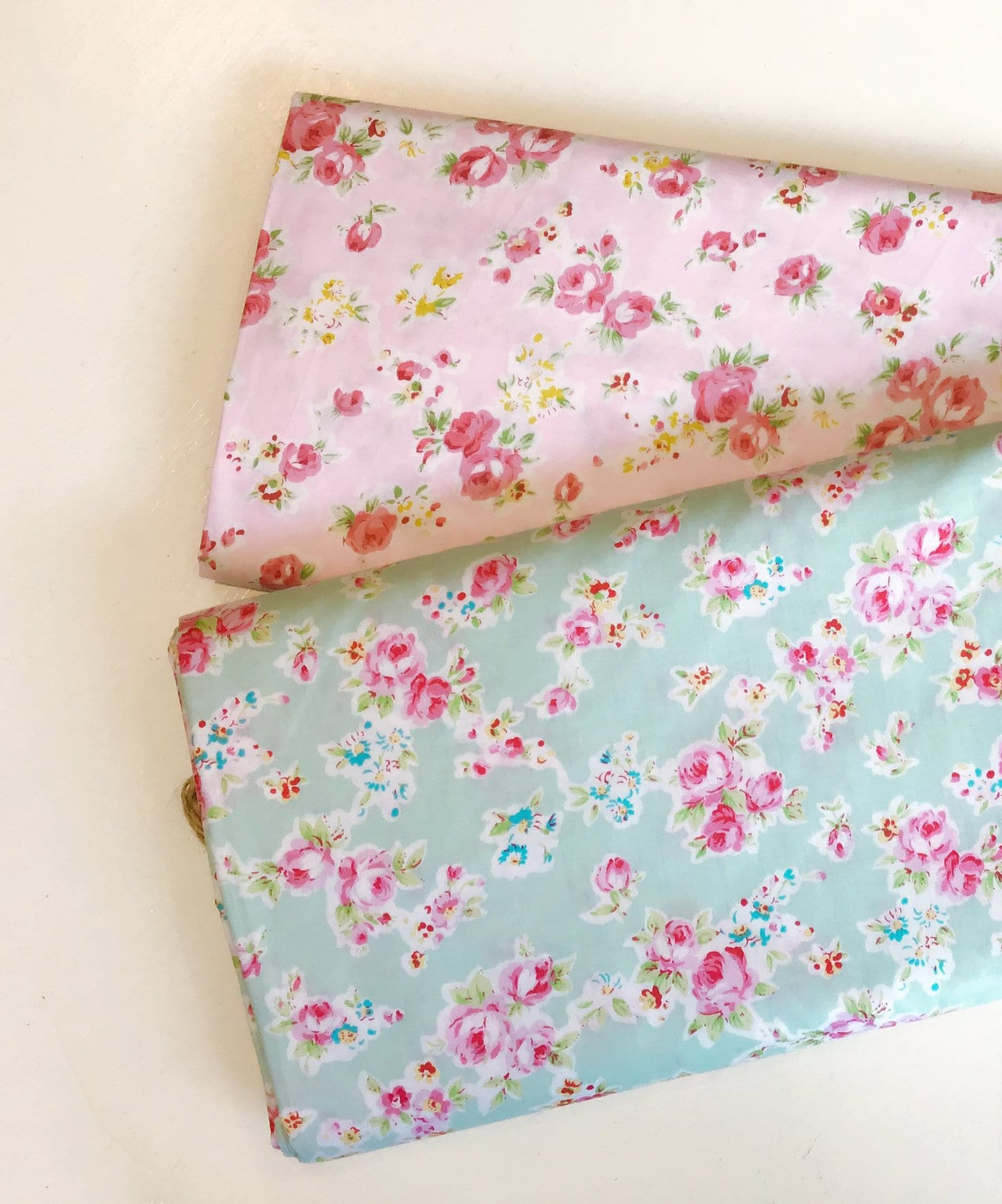 LOVELY ROSE /& HUBBLE FLAMINGO PRINT FABRIC GREEN 100/% COTTON PER METRE