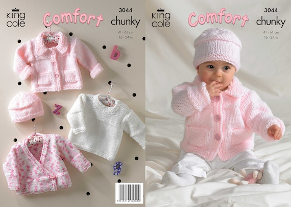 d4830e131 King Cole comfort chunky knitting pattern no 3044 baby