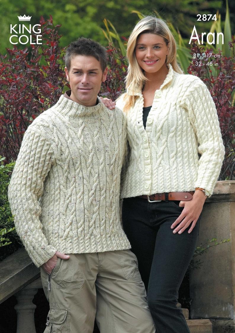 Baby Comfort Aran Knitting Pattern King Cole Knitted Jacket Bolero Sweater 3134