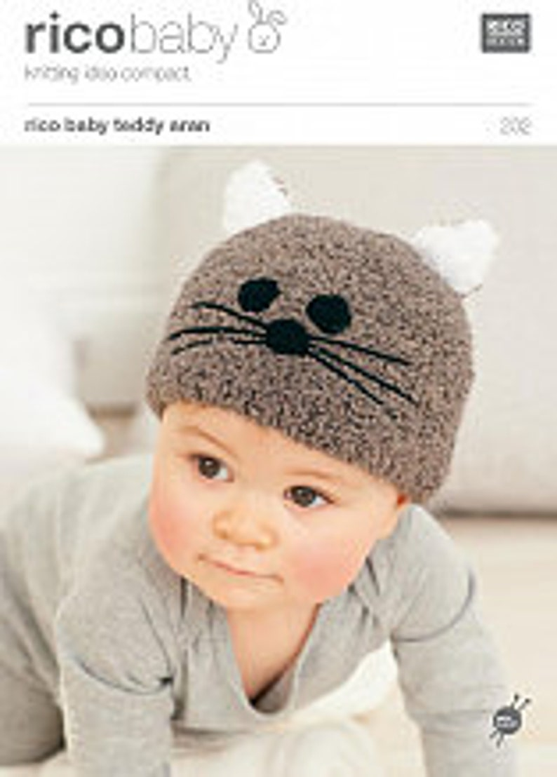 66e40260c55 Rico knitting patterns no 201 and 202 Baby Hats