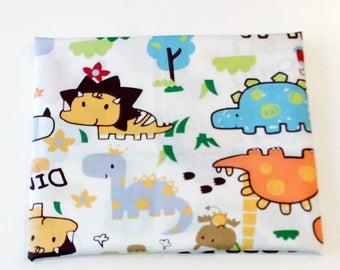 Bright and colourful children's dinosaur  100% cotton fabric per fat quarter, per half metre