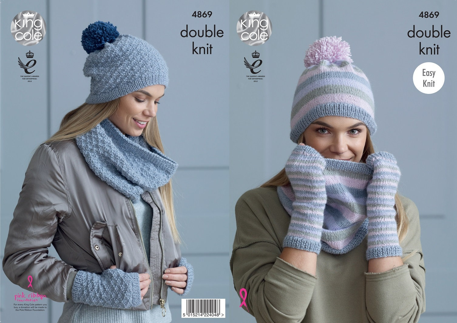 14486a2a9b0e King Cole DK knitting pattern no 4869 Ladies Snoods Hats and