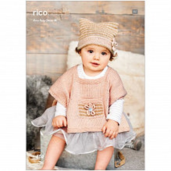 Rico Baby Knitting Pattern No 462 Ponchos And Hats Etsy
