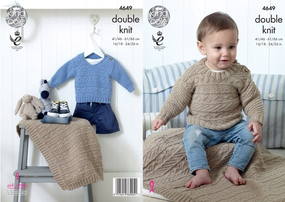 d1e0675a070e King Cole DK knitting pattern no 4649. Babys and Childs