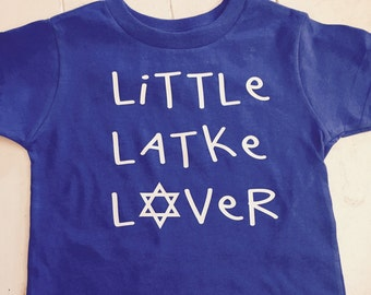 Little latke lover kids t-shirt/ hanukkah shirt